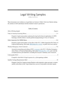 10 Page Writing Sample